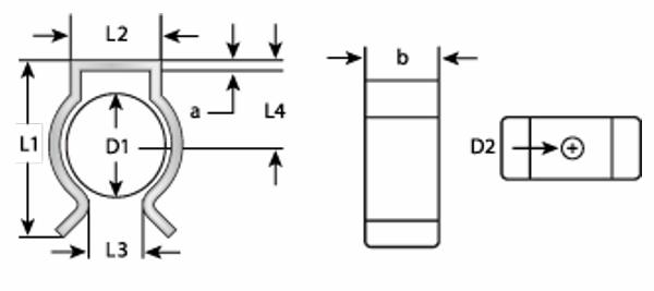 Federklammer für Rohre