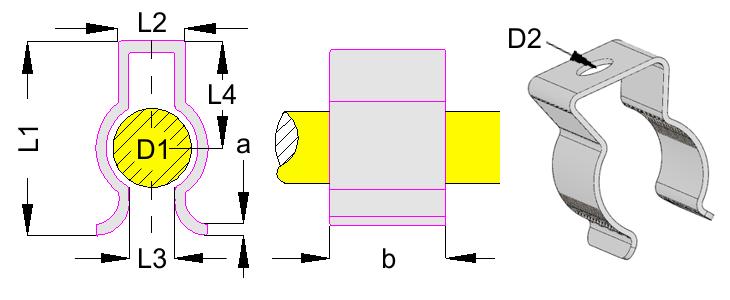 Símbolos de fórmula de clip de resorte - Gutekunst Formfedern