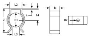 Maßangaben Federklammern