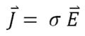Leitfaehigkeit Metalle Formel | J ⃑= σ E ⃑