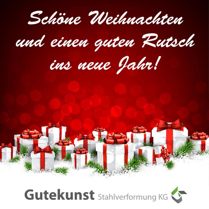 Schöne Weihnachten und einen guten Rutsch ins neue Jahr wünscht Gutekunst Formfedern!